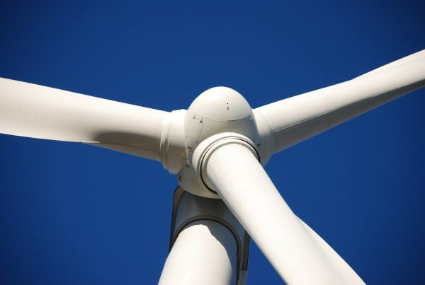 close up of wind mill